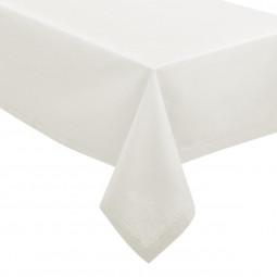 Nappe chambray blanc 140x240 cm
