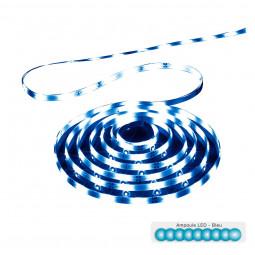 Ruban LED longueur 3 mètres Lumière bleue