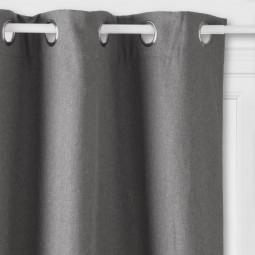 Rideau isolant gris Tim 140 x 260 cm