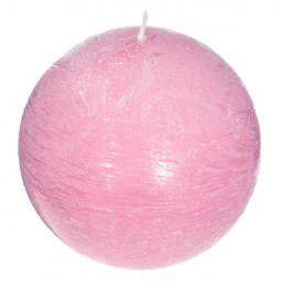 Bougie boule parfumée ROSE ELEA D 10 cm