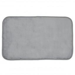 Tapis velours gris 50x80 cm