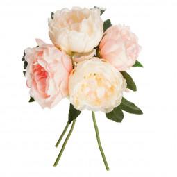 Bouquet de 4 pivoines roses H30