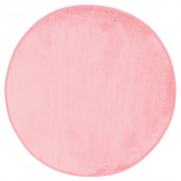 Tapis velours rond rose clair D90