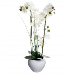 Orchidée vase céramique blanc H.53