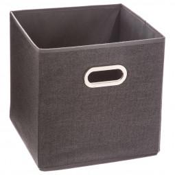 Boîte de rangement  gris foncé chiné 31X31