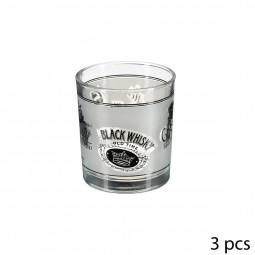 Lot de 3 verres à whisky bas 22 cl