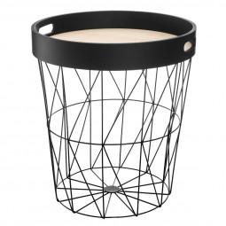 Table à café noire Kumi avec plateau amovible