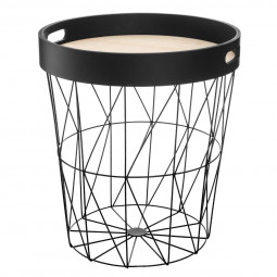 Table à café coloris noir kumi avec plateau amovible