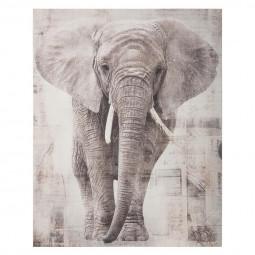 Toile imprimée Éléphant 38X48