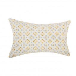 Coussin mosaïque jaune 30X50