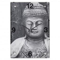Pendule verre Bouddha 25X36