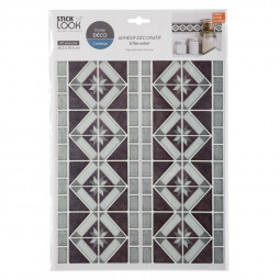 Lot de 2 stickers carrelage ou frise gris