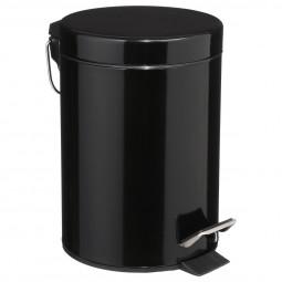 Poubelle noire en métal 3L