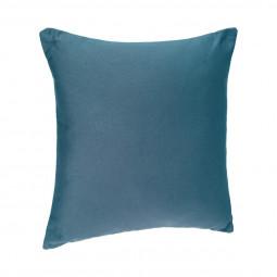 Coussin coton bleu canard 38 X 38 cm
