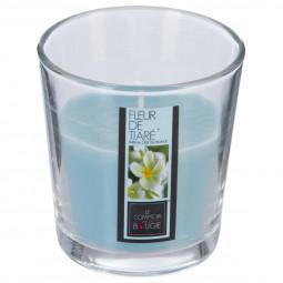 Bougie parfumée verre fleur tiaré 90G