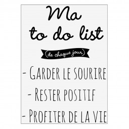 Sticker texte 50x70 - To Do List