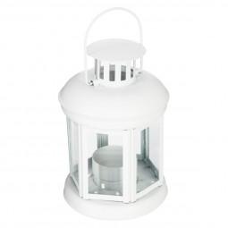Lanterne métal blanche Fanny 10X15