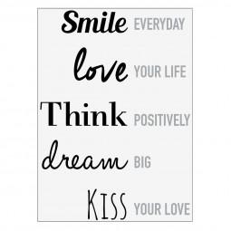 Sticker texte smile often 50x70