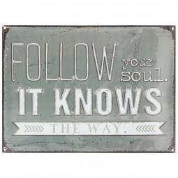 Sticker relief follow soul