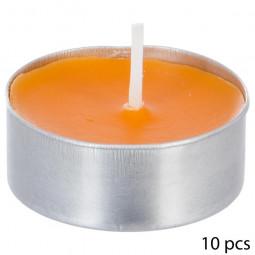 Lot de 10 bougies parfumées fruits exotiques
