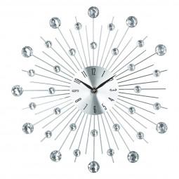 Pendule aluminium strass D33