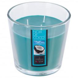 Bougie parfumée en verre noix de coco D13.5