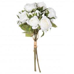 Bouquet de 14 roses blanches H40