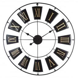 Pendule noire en métal D76