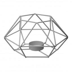 Photophore fil métal gris D 15 cm