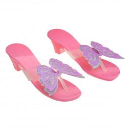 Princesse déguisement Paire de Chaussures avec papillon - taille unique