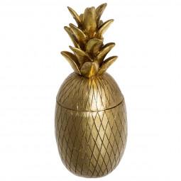 Boîte forme Ananas en résine Or blush living