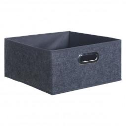 Boîte de rangement gris foncé
