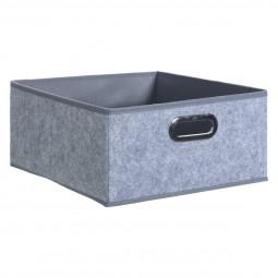 Boîte de rangement gris clair
