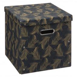 Boîte de rangement pliable décorée 31x31