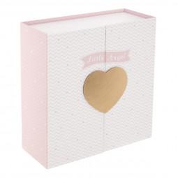 Boîte porte coeur doré
