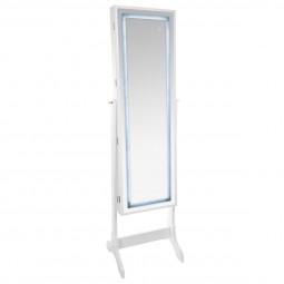 Armoire à Bijoux et miroir avec éclairage LED Hauteur 155 cm
