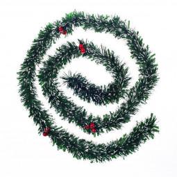Guirlande de Noël Verte avec Baies rouges longueur 200 cm Les incontournables