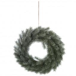 Décoration de Noël Couronne en sapin givré D 40 cm Les incontournables
