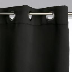 Rideau occultant uni noir 140 x 260 cm