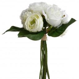 Bouquet de fleurs blanches H30