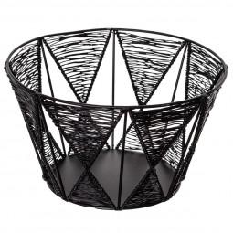 Corbeille en fil métal noir outland 24 cm