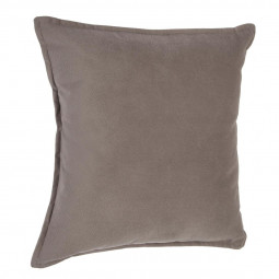 Coussin taupe Lilou 45 x 45 cm