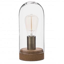 Lampe Dome en verre & liège H27