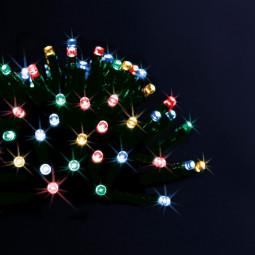 Guirlande lumineuse d'extérieure solaire 50 LED Multicolores sur 5 Mètres