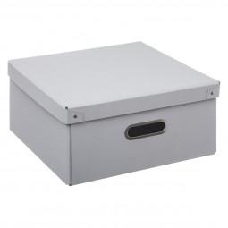 Boîte de rangement pliable blanc 31x15