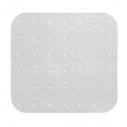 Fond de douche en pvc 55 x 55 cm blanc