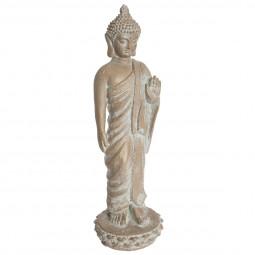 Bouddha effet blanchi H 74 cm