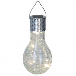 Ampoule solaire en verre craquelé D9xH17,5