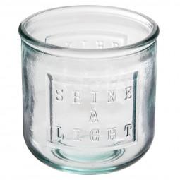 Photophore verre recyclé transparent D9XH9
