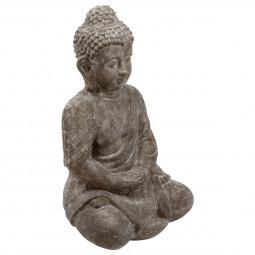 Bouddha assis en ciment H 46 cm